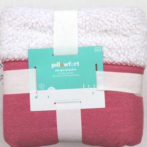 Pillowfort Faux Sherpa Blanket Twin Pink